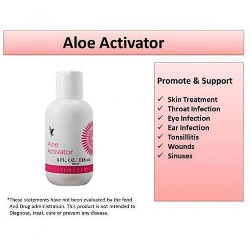 Forever Aloe Activator benefits - Moisturizing and Cleaning agent