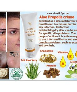 Forever Aloe Propolis Creme - A natural and effective antibiotic for skin  problems such as scratches, burns and inflammation is useful for acne and