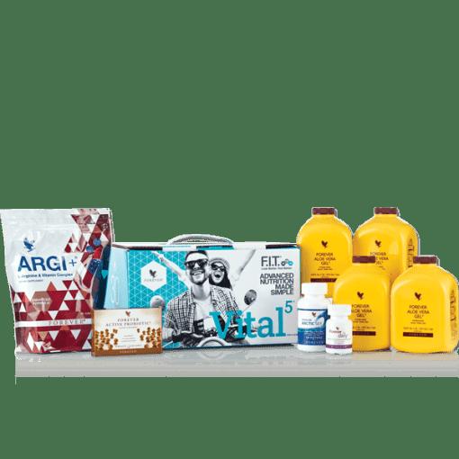 مكونات فوريفر فيتال 5 مع عصير الألوفيرا